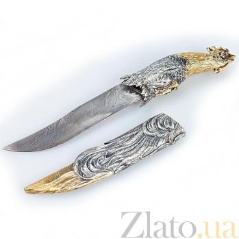 Серебряный подарочный нож Петух 1301