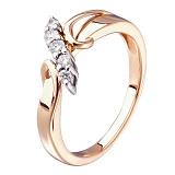 Кольцо из красного золота Алисия с бриллиантами