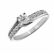 Кольцо из белого золота Манита с бриллиантами