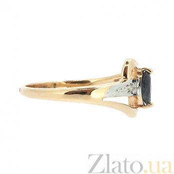 Золотое кольцо в красном цвете с бриллиантами и сапфирами Джилиан ZMX--RS-15904_K