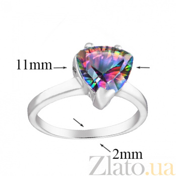 Серебряное кольцо Верди с мистик топазом 000045603