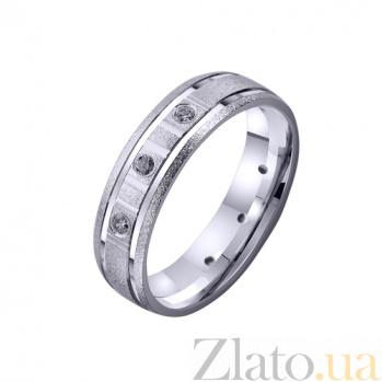 Золотое обручальное кольцо Новая классика с фианитами TRF--4221101