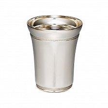 Серебряная стопка Встреча с узорной каемкой, 50мл