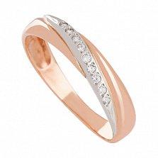 Золотое кольцо Изидора с фианитами