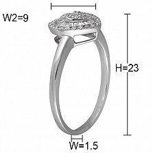 Кольцо из белого золота Маррита с бриллиантами