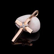 Золотой крестик Гретхен с бриллиантами в ассортименте