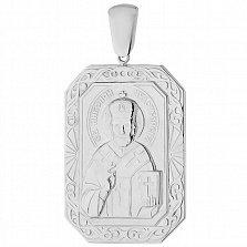 Серебряная ладанка Св. Николай Чудотворец