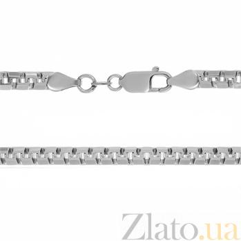 Серебряная цепь Аликанте с родием, 4 мм 000027911