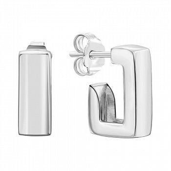 Серебряные серьги-пуссеты 000136112