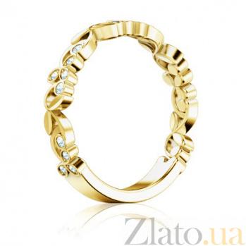 Кольцо из желтого золота с бриллиантами Долина грез: Дыхание тишины 1294
