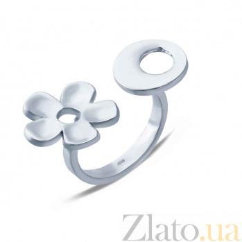 Серебряное открытое кольцо  AQA--Р2-Б3