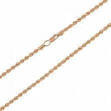 Золотая цепочка Мередит в плетении жгут