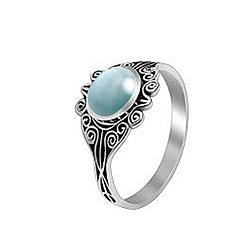 Серебряное кольцо Кларисса с голубым улекситом