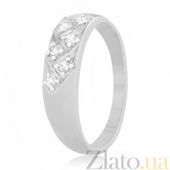 Серебряное кольцо Элейн с фианитами 000025800