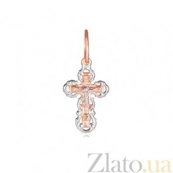 Серебряный крестик Спасение 000028650