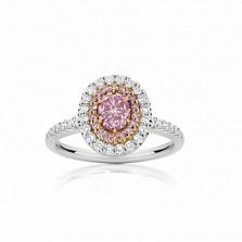 Кольцо Argile из белого и розового золота с бриллиантами и розовыми сапфирами