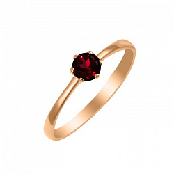 Золотое кольцо Кристин с гранатом