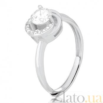 Серебряное кольцо Эстенсе с фианитами 000030937