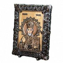 Икона с сусальным золотом Николай Чудотворец