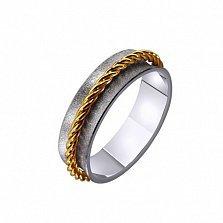 Золотое обручальное кольцо Rock style