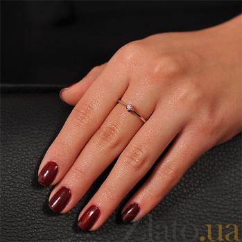 Золотое кольцо с бриллиантом Бианка EDM--КД7469/1