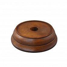 Деревянная круглая подставка под колокольчик, Ø100