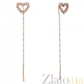 Золотые серьги Hearts 21061