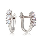 Золотые серьги с бриллиантами Эра