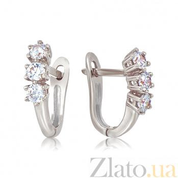 Золотые серьги с бриллиантами Эра EDM--С7535/1