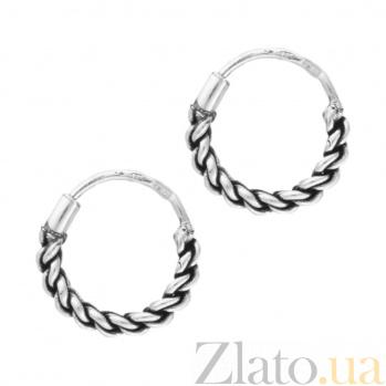 Серебряные серьги-конго Плетение SLX--С5/329