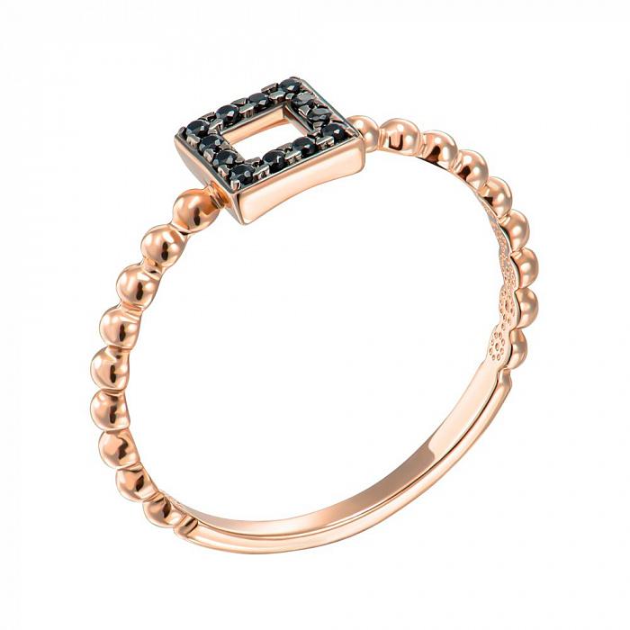 Кольцо из красного золота с фианитами 000150329 000150329