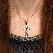 Крестик из красного золота Легионер