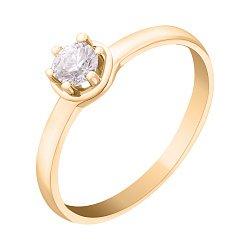 Кольцо из желтого золота с цирконием Swarovski 000042566