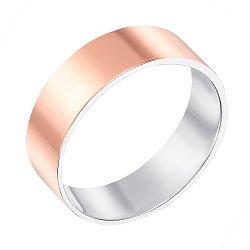 Серебряное обручальное кольцо с позолотой 000139765
