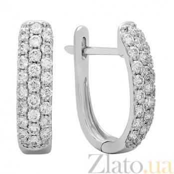 Серьги в белом золоте с бриллиантами Светлый путь 000026620