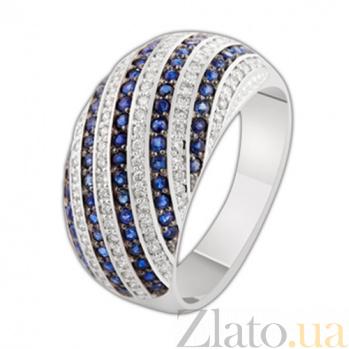 Золотое кольцо с сапфирами и бриллиантами Роксана KBL--К1927/бел/сапф