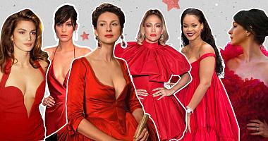 Самые запоминающиеся красные платья знаменитостей