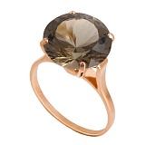 Золотое кольцо с раухтопазом Диодора