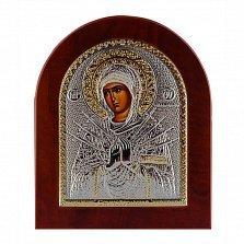 Икона Богородица Семистрельная на деревянной основе, 15,5х19см