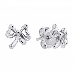 Серебряные серьги-пуссеты в стиле минимализм 000118207