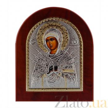 Икона Богородица Семистрельная на деревянной основе, 15,5х19см 000061912