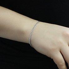 Серебряный браслет Элви в панцирном плетении, 3 мм