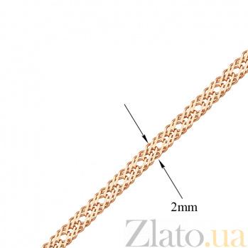 Золотая цепь Ливис в плетении ромб, 2мм 000071062