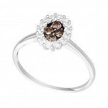 Кольцо в белом золоте Янина с бриллиантами