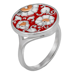 Серебряное кольцо с эмалью Дарина