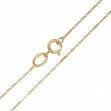Золотая цепь Элси комбинированного плетения, 1мм