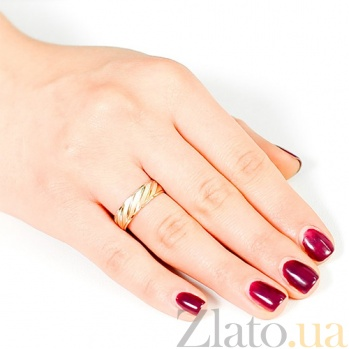 Золотое обручальное кольцо Очерки стиля 000001656