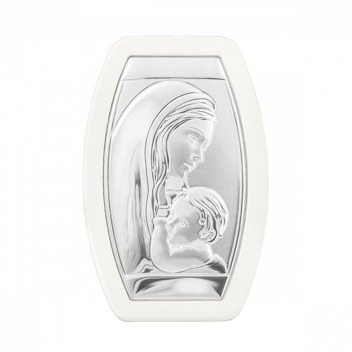 Икона Божья Матерь с серебром в деревянной рамке 000133941 000133941