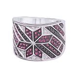 Золотое кольцо с бриллиантами и рубинами Рианна