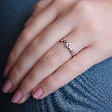 Серебряное кольцо Ильда с фианитом